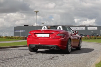 Mercedes-Benz SLK55 AMG presentation for Starmark